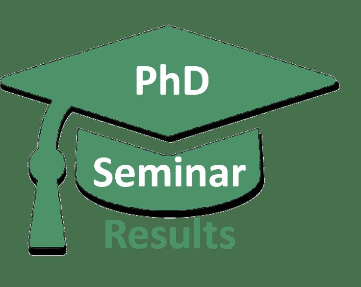 phd seminar results ts sm